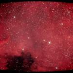NGC 7000 - Nordamerikanebel: koma-korrigiert