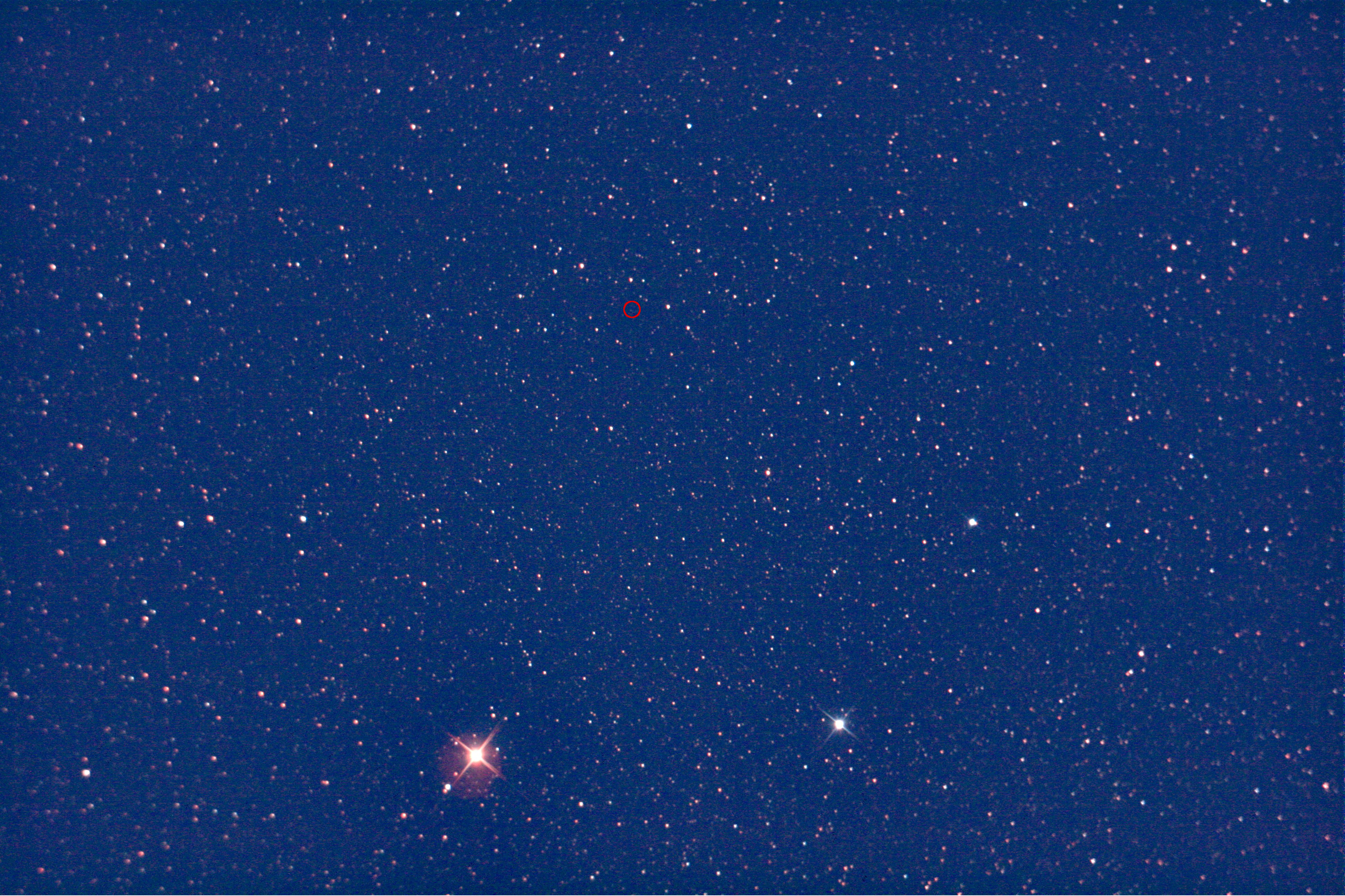 Pluto-Suchbild