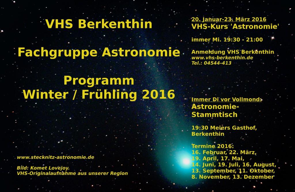 Ankündigung VHS-Kurs Astronomie 2016-I
