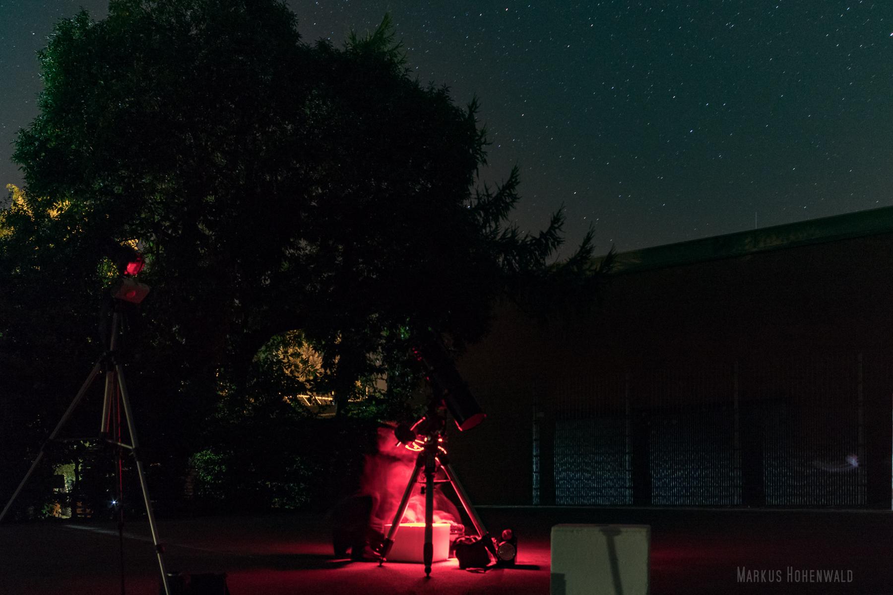 Am Teleskop