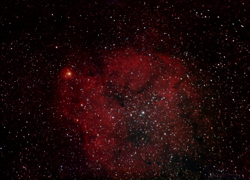 IC 1396, Elefantenrüsselnebel und Granatstern