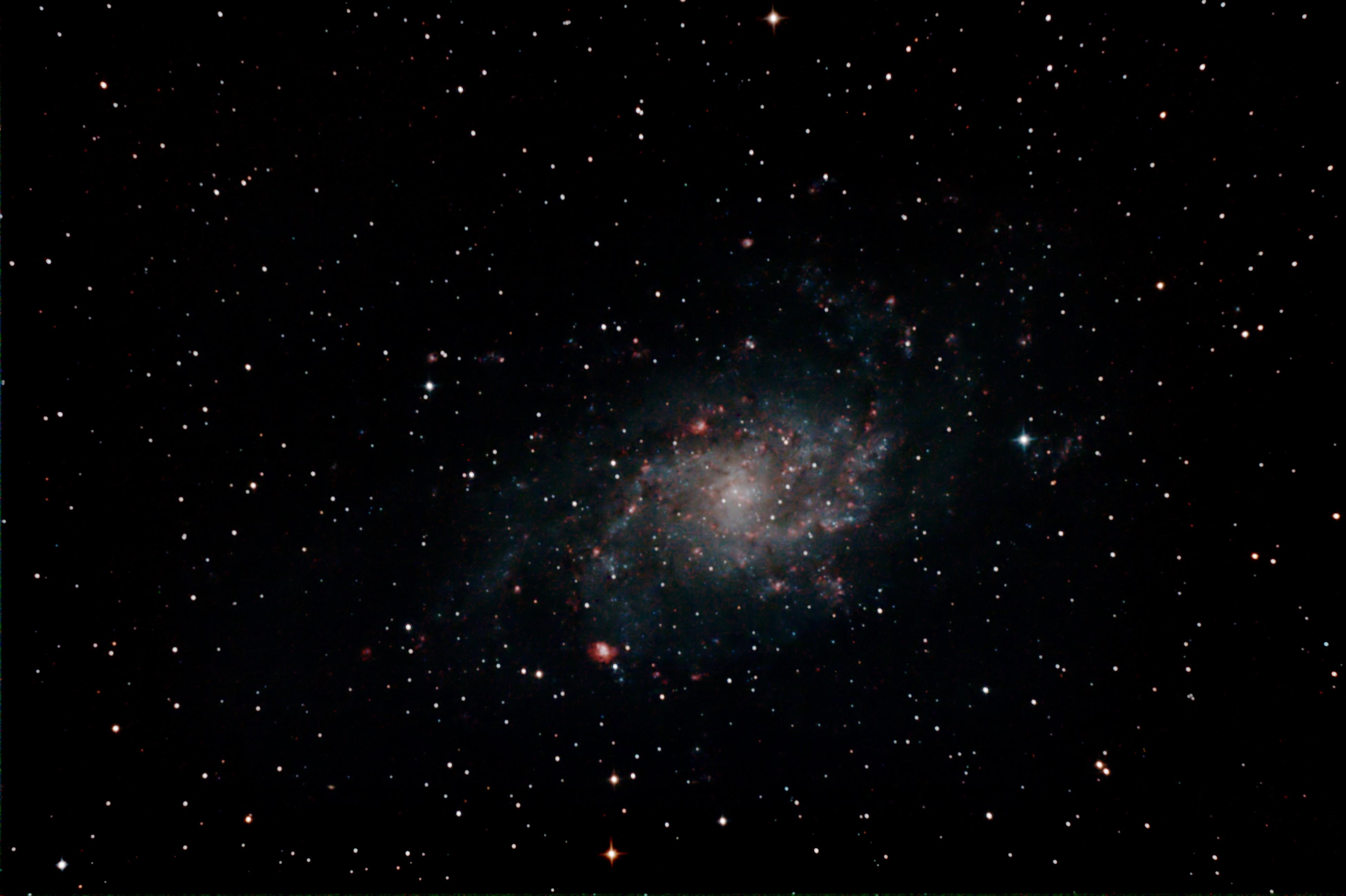 Dreiecksgalaxie M33 im Sternbild Dreieck.