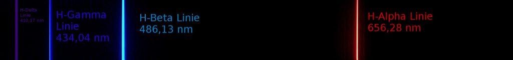 Sichtbares Wasserstoffspektrum