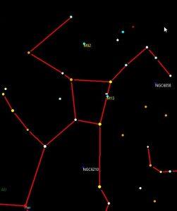 Sternbild Herkules