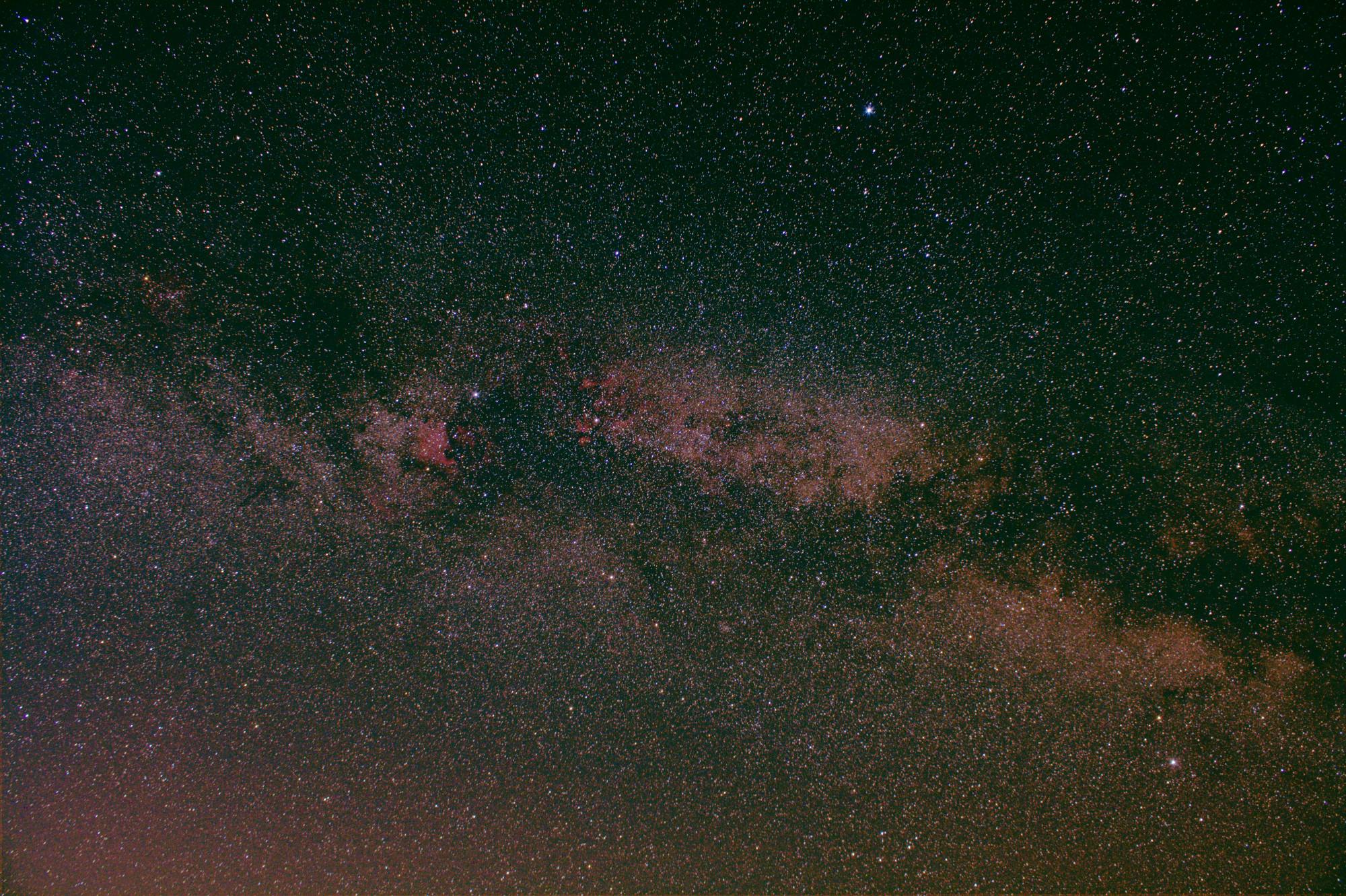 Milchstraße in der Höhe des Sternbilds Schwan