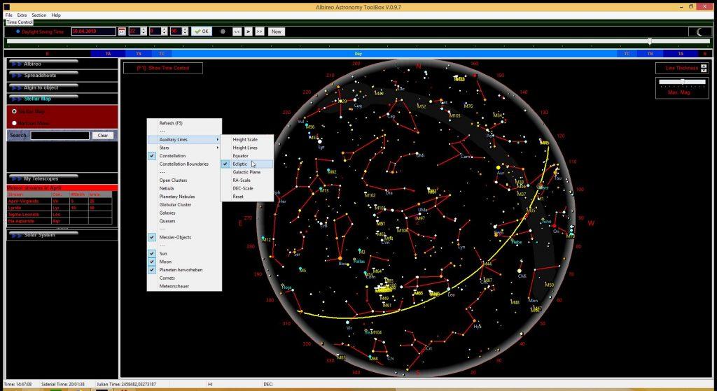 Screenshot Albireo 0.9.7