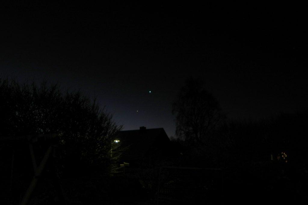 Venus, Merkur udn Antares am Morgen