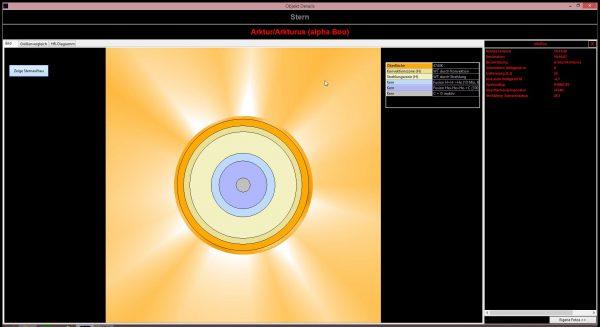 Albire0 0.9.9: Visualisierung von Sternen