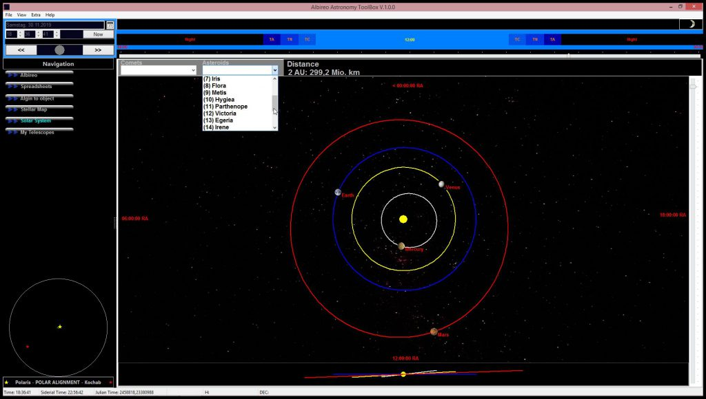 Visualisierung des Sonnensystems  Visualisation of the solar system