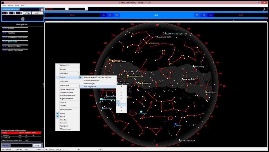 Albireos digitale Sternkarte  Albireo's digital starmap