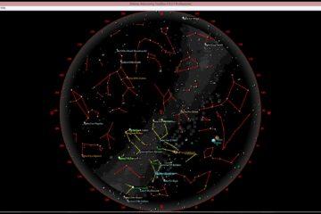 Ternenhimmel im Januar 2020